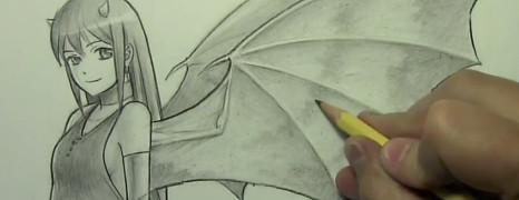 Mark Crilley 漫画教程97:魔鬼的翅膀