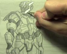 Mark Crilley漫画教程#98:未来铠甲
