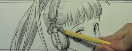 Mark Crilley漫画教程#100:超萌戴耳机美少女