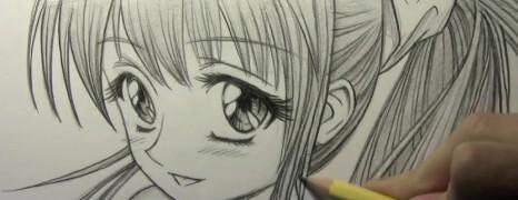 Mark Crilley漫画教程20110509:大眼睛超萌美少女