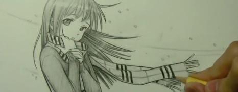 Mark Crilley漫画教程103:戴围巾的女孩