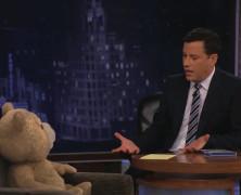 Ted泰迪熊做客Jimmy Kimmel脱口秀(太牛了!!!!)