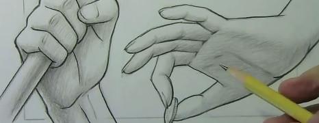 Mark Crilley漫画教程101:手的画法(两种)
